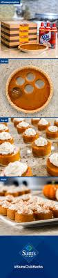Family will gobble up this easy Thanksgiving hack! Take a biscuit cutter to  four Sam's Club pumpkin pies and voila! Adorable minis for 32 guests.