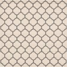 unique loom 10 x 10 trellis square rug