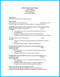Student Resume For Summer Job Best Current College Student Resume With No Experience 92