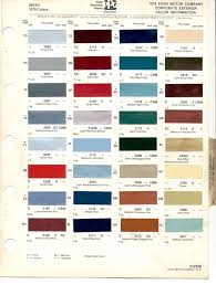 2013 Ford Truck Color Chart Paint Chips 1979 Capri Courier Fiesta Ford Truck Lincoln