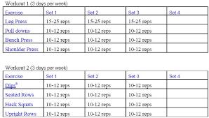 Exercise Chart For Men Workout Chart For Men Kozen Jasonkellyphoto Co