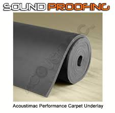 acoustimac soundproofing performance carpet underlay roll 4 5 x 20 3 8