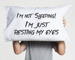 Husband Gift for Boyfriend pillow case Bedroom decor Just Resting My Eyes Funny  Pillowcases funny pillow