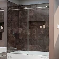 Glass Doors For Bathtub Dreamline Enigma X 59 In W X 62 In H Frameless Bathtub Door Shdr