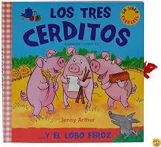 Livre By Jenny Arthur,Carmen Gil Martínez: Los Tres Cerditos The Three  Little Pigs Y El Lobo Feroz And The Big Bad Wolf - PDF EPUB Lire