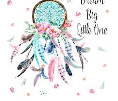 Dream Catcher Sayings 100x100 Dream Big Quote Pink Aqua Dream Catcher Fabric 19