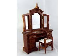 miniature dollhouse furniture woodworking. -15% Dolls House Venetian Dressing Table \u0026 Stool Miniature Walnut Bedroom Furniture Dollhouse Woodworking