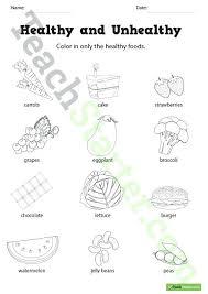 Healthy Food For Preschool Healthy Food Coloring Pages Healthy Food
