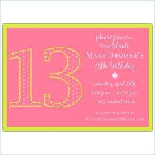 13th Birthday Party Invitations With Birthday Invites Best Birthday