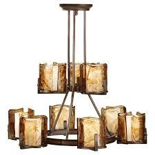 murray feiss lighting aris 9 light multi tier chandelier shown in stardust finish