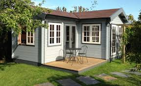 outside office shed. garden offices kubus log cabins outside office shed e