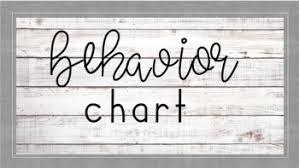 Fourth Grade Behavior Chart Rustic Behavior Chart
