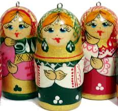 Christmas Ornaments Matryoshka Style - Ornaments Sets - Russian Crafts