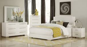white queen bedroom sets. Homelegance Linnea Bedroom Set - High-Gloss White Queen Sets T