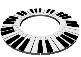 Piaproピアプロイラスト背景素材233鍵盤6背景透過