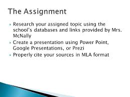 researched presentations iuml frac research your assigned topic using research your assigned topic using the school s databases and links provided by mrs