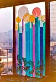 Kerzen Aus Transparentpapier Mehr Micha Fensterbilder