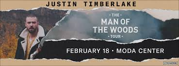 Justin Timberlake The Man Of The Woods Tour Rose Quarter