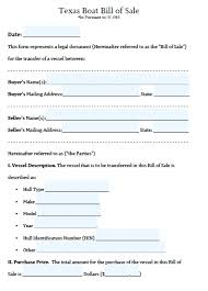 Form Boat Bill Of Sale Form Form Free Template Boat Bill Of Sale ...