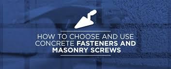 concrete fasteners masonry s