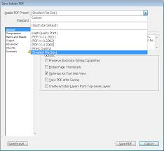 Exporting To Pdf In Illustrator Reduce File Size In Document With