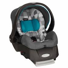 evenflo embrace select infant car seat with stay in car base standard latches