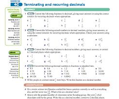 Terminating & Recurring Decimal Task | missburkerocks