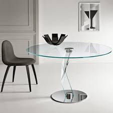 brat alto 130cm round glass dining table 21727