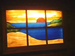 making stained glass lamps light box plans designs sunset how to make your own lamp shade