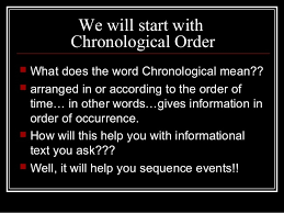 Chronological Words Organizational Text Features