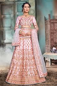 Lehenga Choli Designs Glitzy Baby Pink Designer Lehenga Choli