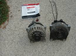 crown victoria alternator 4g > 6g upgrade the new 6g alternator is on the left the old broken 4g alternator is on the right