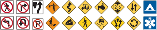 Traffic Road Sign Test Usa Traffic Signs