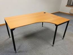 curved office desk. Ikea Galant Right Hand Curved Office Desk Table With Adjustable Legs/Feet - Bargain £ F