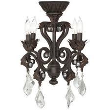 mini brown 4 light hampton bay chandelier with crystal for home lighting idea