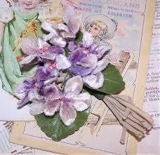 Heb Corsages Vintage Silk Flowers Made In Japan Velvet Sprays Japanese