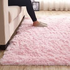 Light Pink Fluffy Rug Maxyoyo Pink Shaggy Rug For Girl Room Decor Kids Rugs For Bedroom Girls 3 5 Cm Height Solid Color Large Fluffy Shaggy Indoor Area Rug Soft And Cozzy