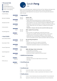 Professional Accountant Resume Accounting Resume Template Free Templates Samples Format