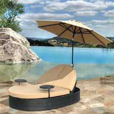 outdoor patio double chaise lounge with umbrella by bridgeton solara outdoor patio double chaise lounge with