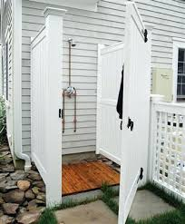 outdoor shower kits freestanding australia nz canada