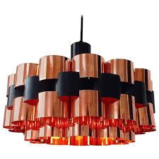 danish mid century copper ceiling light from fog and mørup denmark for