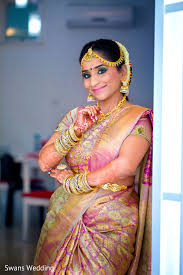 getting ready in kempas msia indian wedding by swans makeup