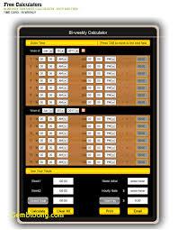 Biweekly Time Sheet Calculator Enchanting 48 Biweekly Timesheet Calculator Saintconnect