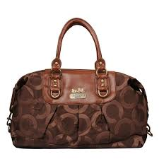 Coach Madison Logo Signature Large Coffee Luggage Bags EMM Outlet Sale