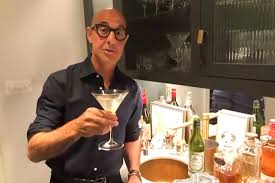 Stanley Tucci teaches James Corden how to make a martini