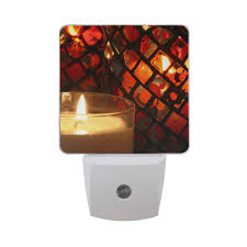 Flameless Candle Plug In Night Light Amazon Com Led Night Light With Smart Dusk To Dawn Sensor