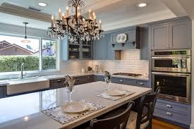 contemporary kitchen cabinets painted grey shaker doors crown molding
