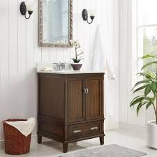 Real wood bathroom vanities Depot Avenue Greene Konnor Dark 24inch Bathroom Vanity Archiproducts Buy Wood Bathroom Vanities Vanity Cabinets Online At Overstockcom