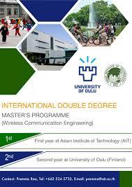 Double Degree Masters Program In Wireless Communications