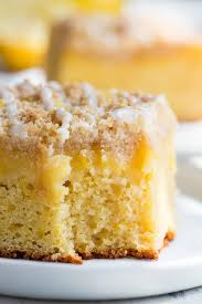 Lemon Crumb Cake With Creamy Lemon Curd The Paleo Running